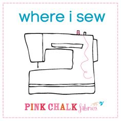 """Where I Sew"" month of blog posts at Pink Chalk Studio with tons of pictures and ideas for organizing a sewing area."