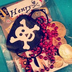 pirate loot - simple pirate party goody bag