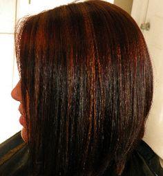 hair highlights for dark brown hair rose gold highlights