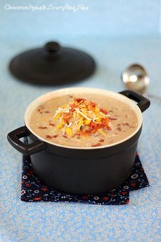 Jalapeno Popper Chicken Chili Soup with Bacon .