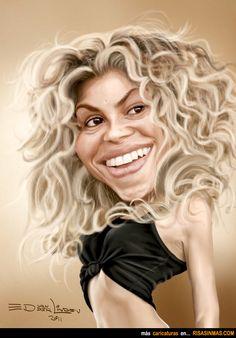 Caricatura de Shakira.