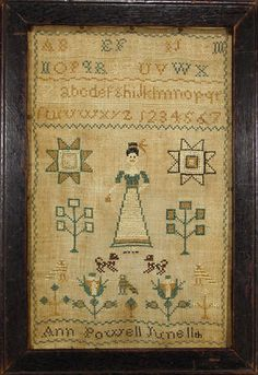 beautifully simple 19th centuri, 19th century, cross stitch, beauti simpl, earli 19th, ann powel