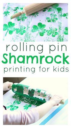 Rolling Pin Shamrock Prints- pinned by @PediaStaff – Please Visit  ht.ly/63sNt for all our pediatric therapy pins