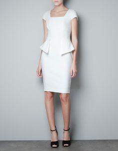PEPLUM DRESS - Dresses - Woman - ZARA United States