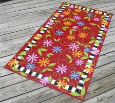 These canvas floor cloths are great for outdoors.