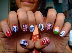 One Direction Nail Designs <3