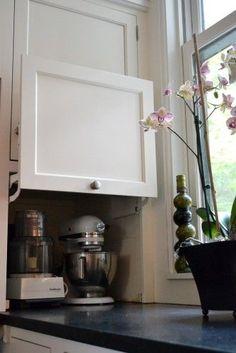 Appliance garage. <3 this idea!