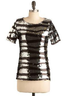 zebra glitter top