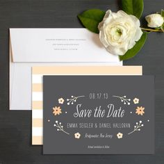 Flower Garden Save The Date Cards by The Occasional Hello | Elli