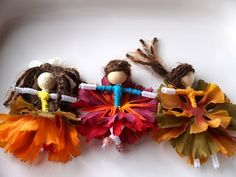 The Magic Onions :: A Waldorf Inspired Blog: Let's make Flower Fairies - via http://bit.ly/epinner