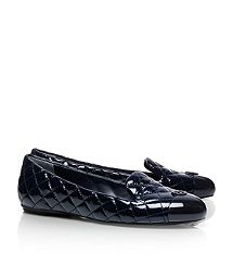 Quilted and Patent leather - STop!  Patent Leather Kaitlin Smoking Slipper