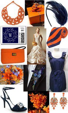 Burnt Orange And Navy Blue Wedding Inspirations.