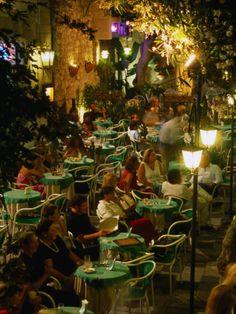 Outdoor Dining Sicilian Style, Taormina, Sicily, Italy