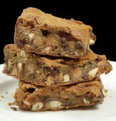 Chocolate chip peanut butter pretzel blondies