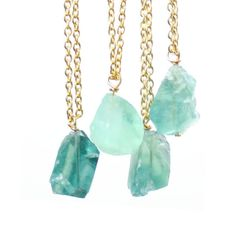 loving the rough stone necklaces I keep seeing everywhere... in seafoams and black even!