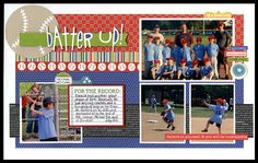 scrapbook layouts, sport layout, bucket, scrapbook idea, baseball page, basebal scrapbook, sport scrapbook, basebal layout, baseball layouts