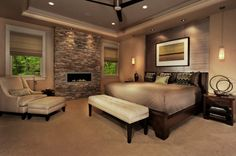 I would love to use this fireplace for our family room downstairs with an oversized chair on either side. Perfect!