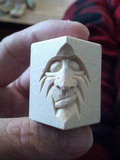 Tiny face carved by Steve Coughlan
