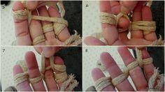 tessere con le dita: creare maniglie x borse in fettuccia