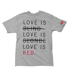 Sweet threads. #endofAIDS http://www.red.org/en/shop/girl-product-red-love-is-red-tshirt