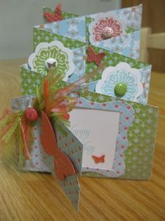 Great cascading card tutorial - lots of places to add hidden messages and pull tabs!