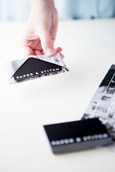 DIY // unique, folded business cards