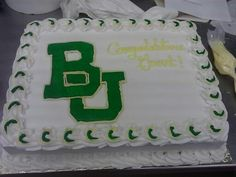 Grant's #Baylor University graduation cake from Collin Street Bakery by Josie Grant
