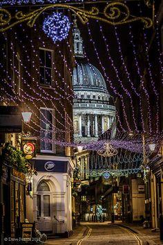 Festive street  - London