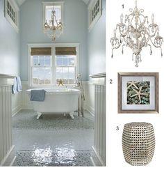 Coastal Bathroom in the Style of Frank Roop | Blogged by @StyleCarrot • Marni Katz • Marni Katz on LampsPlus.com