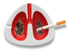 ash on lungs ashtray -lol