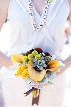 sculpturesque florals with succulents
