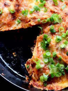 Chorizo and Hatch Chile Skillet Enchilada Recipe