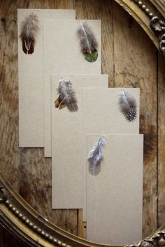 Simple and sweet, nature-inspired stationery that's perfect for a rustic home. Carrier pigeon not included. $18.00