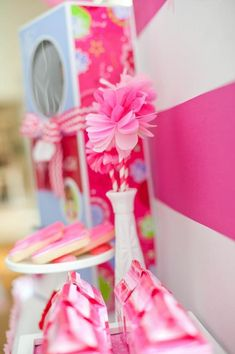 American Girl Doll Birthday Party via Kara's Party Ideas   Kara'sPartyIdeas.com #Pink #Doll #PartyIdeas #Supplies (4)