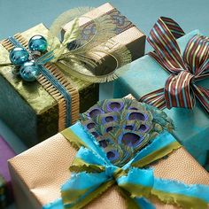 Buy your gift wrapping elements in coordinating colors then you can mix and match them. #giftwrap