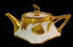 Limoges porcelain teapot.