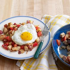 Turkey Hash with Sunny-Side-Up Eggs #protein #vegetables #myplate