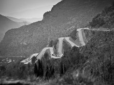 fuckyeahcycling:  The Col de Braus. (Photograph by Scott Mitchell via Team Sky | Pro Cycling | Photo Gallery | Scott Mitchell - Monaco train...