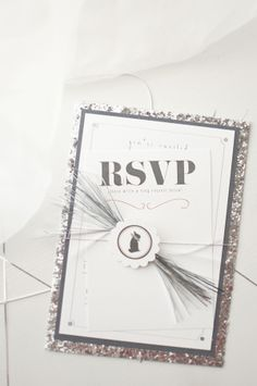 silver glitter invitations for New Year's
