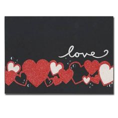 heart glitter, valentin card, invitations, card project, heart border, valentin idea, border card, homemad card, cards