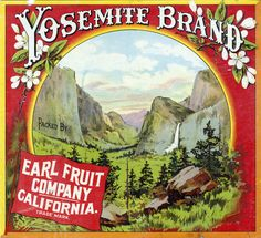 Yosemite Brand. Packed by Earl Fruit Company, Riverside, Calif.