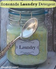 Homemade Laundry Detergent How To--So EASY!