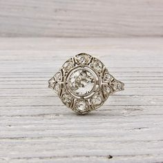 Vintage .55 Carat Old European Cut Diamond Engagement Ring