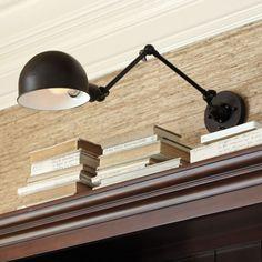 Jordan Adjustable Wall Sconce--thinking piano light!