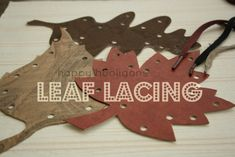Leaf Lacing for kids great toddler activity about nature teaches children to be delicate too - repinned by @PediaStaff – Please Visit  ht.ly/63sNt for all our ped therapy, school & special ed pins