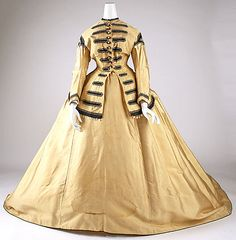 Dress 1865, American, Made of silk