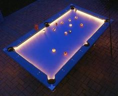 Light-Up Pool Table