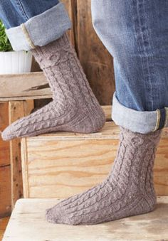 """These #knit socks have a subtle """"XOX"""" pattern along the top border to show you care!"""
