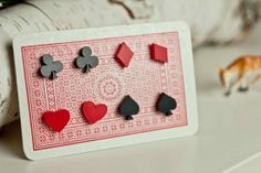 for the GAMBLER: card suit earring studs from Cheshire Kat $25