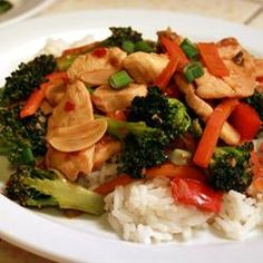 Sweet and Spicy Stir Fry with Chicken and Broccoli via www.Allrecipes.com